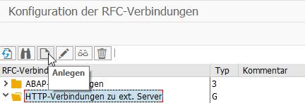 SAP Web Service: Konfiguration von RFC Verbindungen