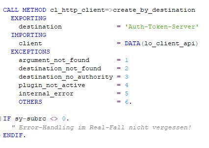 ABAP: CL_HTTP_Client für unseren Web Service