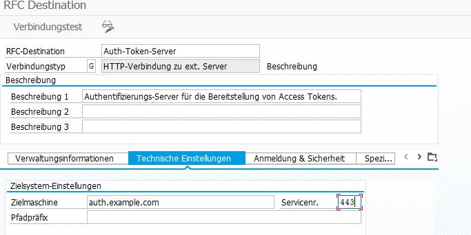 RFC Verbindungen von Web Services