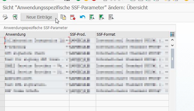 SSF Parameter ändern für SAP Web Service