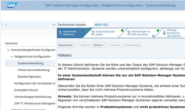 Solution Manager Setup für SAP Systemanalyse